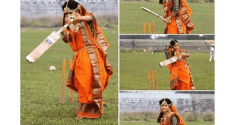 বিশ্ব মিডিয়ায় ক্রিকেটার সানজিদার গায়ে হলুদের ছবি