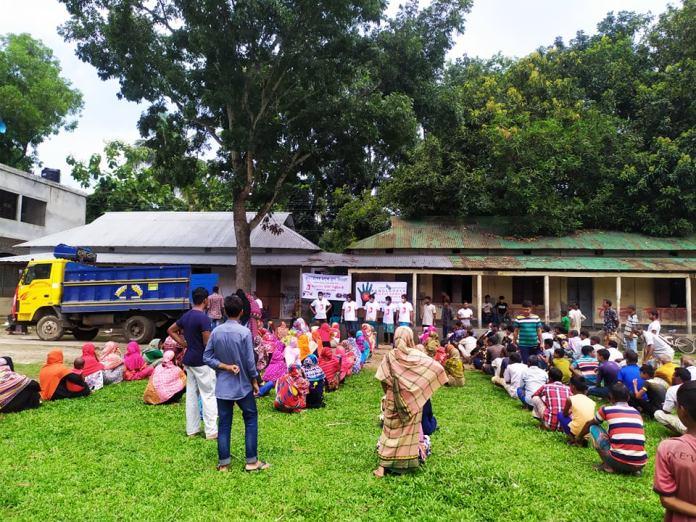 জামালপুরে বানভাসিদের মাঝে উদীচী জেলা সংসদের ত্রাণ সহায়তা প্রদান