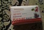 PATANJALI ALMOND KESAR SOAP REVIEW