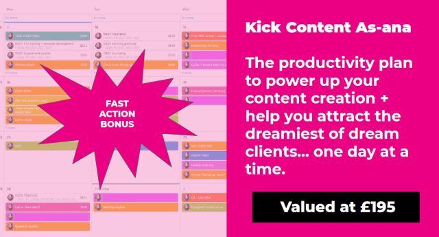Kick Content As-ana