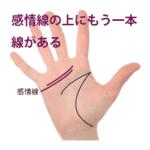 感情線の上にもう1本別の線がある手相‐その1(二重感情線)