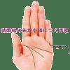 結婚線の先が小指の付け根(基底線)に接する手相