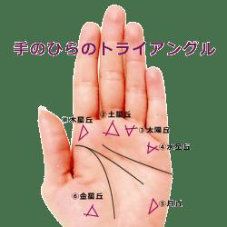 手のひらの三角紋 トライアングル