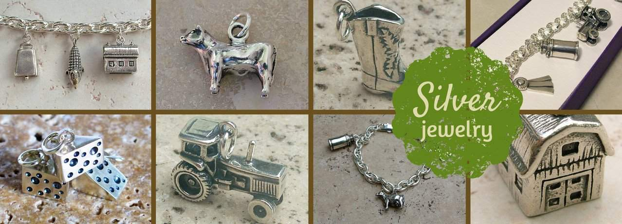 Cow Art and More Silver Charms.