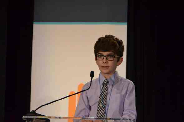 This is Braeden Quinn, he's 13 years old and he is changing the world one snack at a time. (Photo courtesy of ZimmComm)