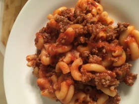Zippy Beef Mac, dairy-free