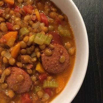 Polish Sausage Lentil Soup