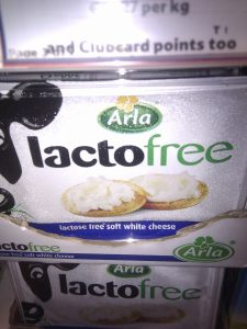 Lactose free soft cheese