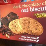 Dark Chocolate Chip Oat biscuits