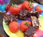 rocky road and strawberries