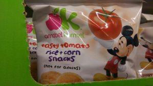 Annabel Karmel Tasty Tomatoes rice & corn snacks