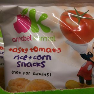 Annabel Karmel Tasty Tomatoes rice & corn snacks