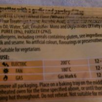 La Cucina Garlic Baguettes Ingredients