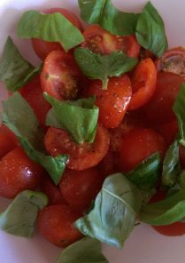 Cherry Tomato and Basil Salad