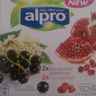 Alpro Blackcurrant & Elderflower and Pomegranate