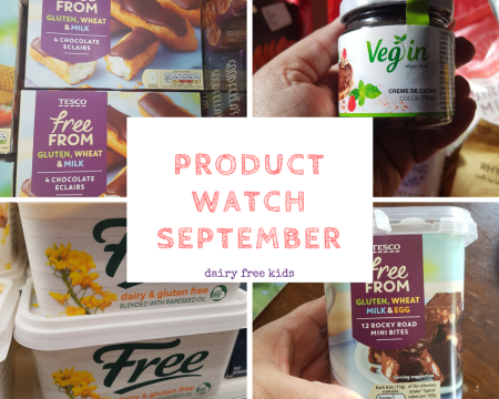Dairy Free Product Watch September