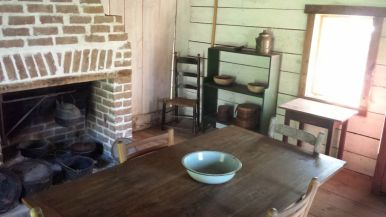 Restored interior of slave quarters at Magnolia Plantation