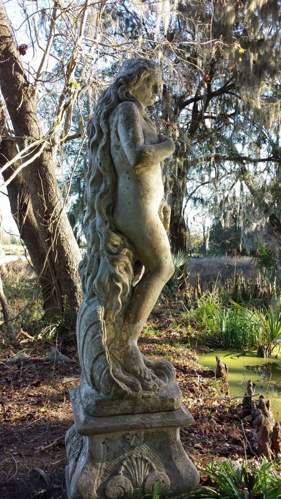 Water nymph statue at Magnolia Plantation