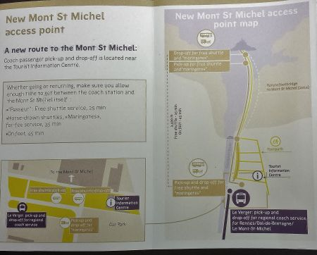 Brochure Showing Access Points to Mont Saint Michel