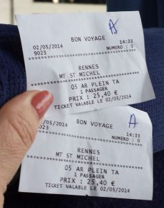 Bus tickets to Mont Saint Michel