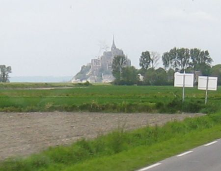 Our First Sighting of Mont Saint Michel