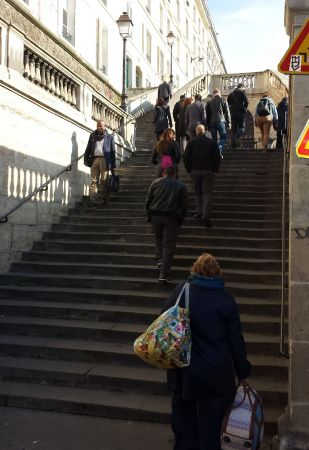The Climb to the RER Station Magenta