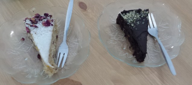 Brownie Cake and Coconut Cake at Soya Cafe