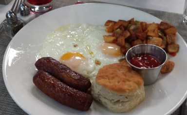 Eggs with Turkey Sausage and Hash Browns