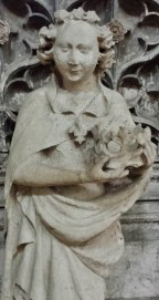Statue of Angel Carrying a Crown Rouen Cathedral
