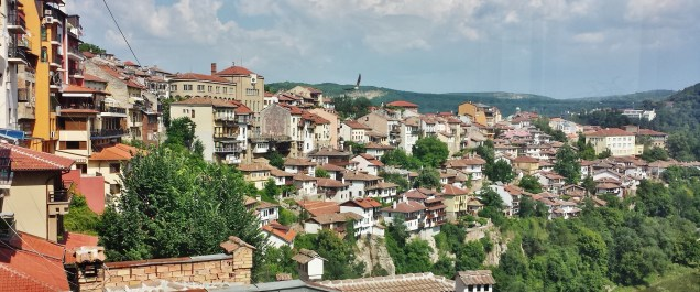 Sveta Gora Hill, Veliko Turnovo's Old Town, as seen from Shtastliveca