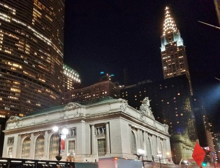 Grand Central Train Station and the Chrysler Building