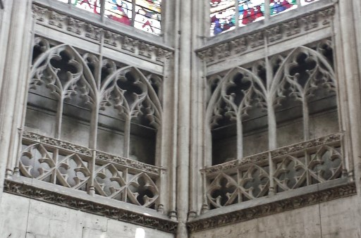 Flamboyant Choir Tracery in Eglise Notre-Dame