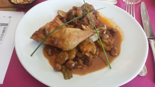 Normandy Chicken with Mushrooms at La Marine
