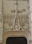 Ornate Carving over Door in Eglise Notre-Dame