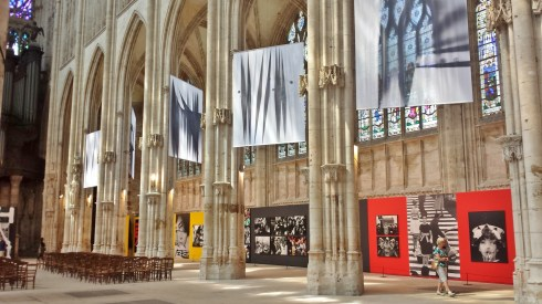 Church of St Ouen Side Aisle with Exhibit