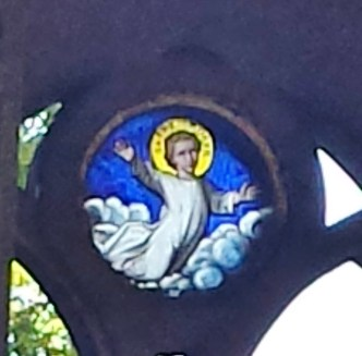 Stained Glass Window in Père Lachaise Mausoleum