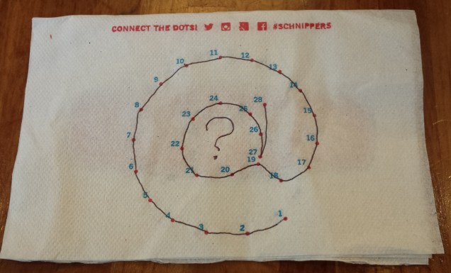 Connect the Dots on Schnippers Napkin