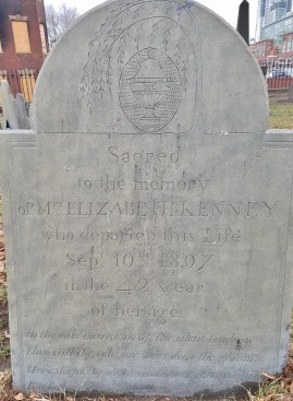 Copp's Hill Gravestone with Poem