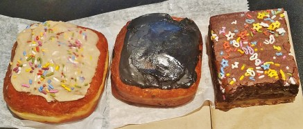Croissant Doughnuts and Triple Decker Brownie from Peaceful Provisions