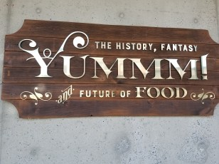 Yummm! Exhibit Sign