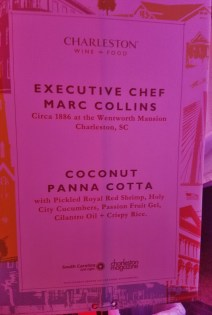 Coconut Panna Cotta Sign