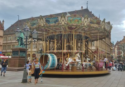 Merry-Go-Round in the Middle of Place Gutenberg