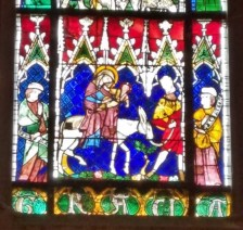 Stained Glass Detail of Flight into Egypt