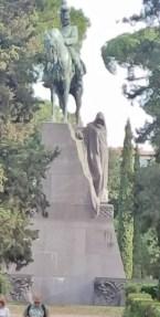 Equestrian Statue in Villa Borghese Gardens