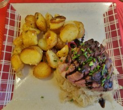 Chez Tante Liesel Duck Choucroute with Potatoes Roasted in Duck Fat