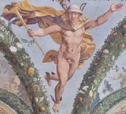 Mercury in First Floor Gallery at Villa Farnesina