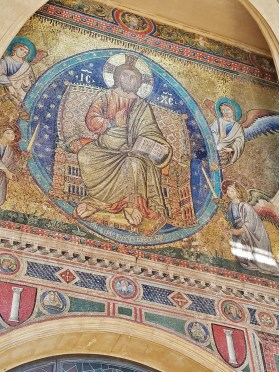 Mosaic of Christ on the Front Porch of Santa Maria Maggiore