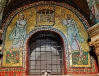 Mosaics in San Zeno Chapel of Church of Santa Prassede Rome