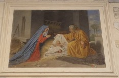 Painting of the Holy Family on the Exterior of the Entrance to Santa Maria in Trastevere