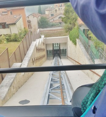 Riding up in the Funicular